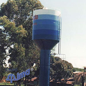 Caixa d água metálica tipo taça